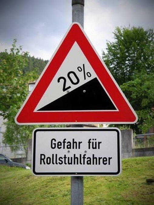 Gefahr für Rollstuhlfahrer