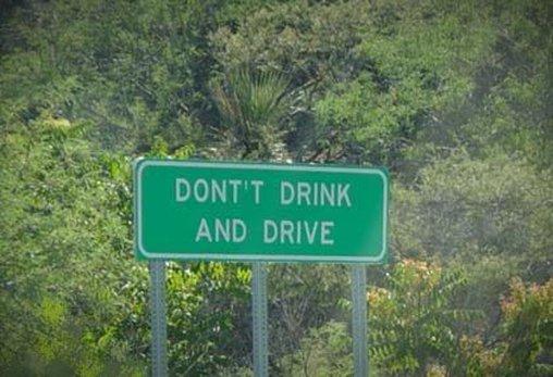 Nicht Trinken und Schreiben