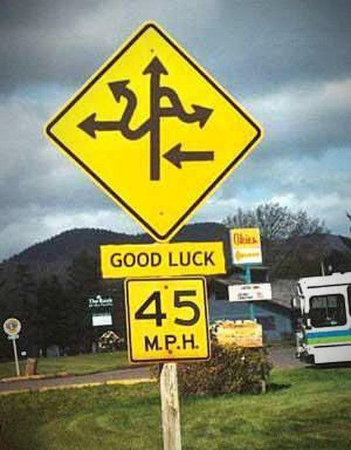 Viel Glück beim Fahren