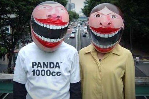 Diese Helme scheinen immer zu lächeln