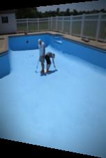 So sollte der Poolboden nicht gestrichen werden
