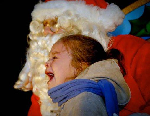 So traurig über den Weihnachtsmann
