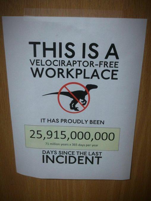 Keine Dinosaurier in diesem Büro