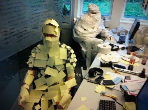 Kreative Büroverkleidung