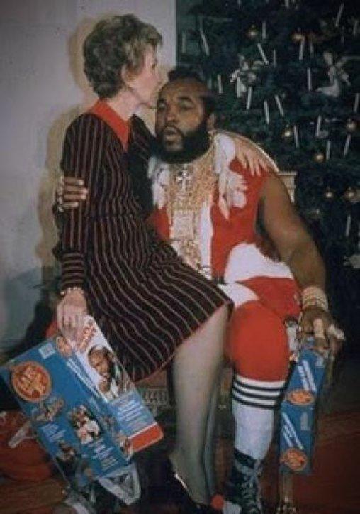 Mr. T als Weihnachtsmann, wie originell