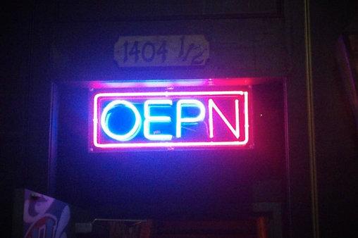 Das Geschäft ist OEPN