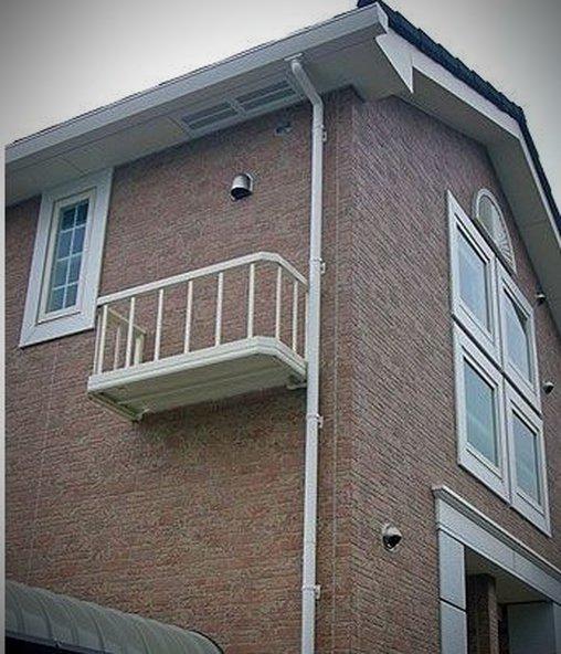 Dieser Balkon ist komplett nutzlos.