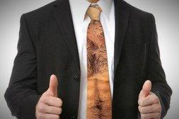 Diese Krawatte ist für echte Männer