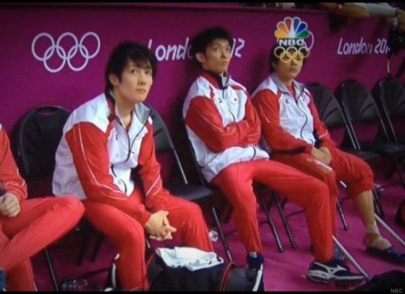 Lustiges Bild von den Olympischen Spielen