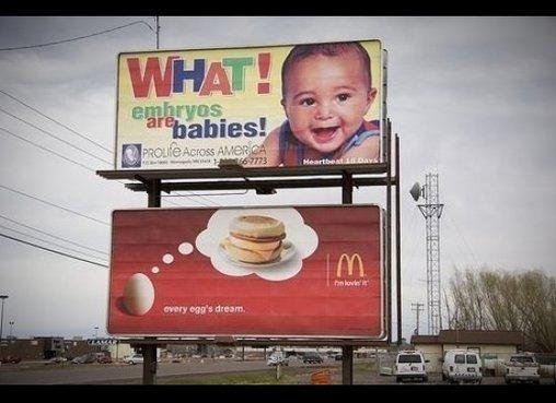 Anti-Abtreibungs-Kampagne vs. McDonalds