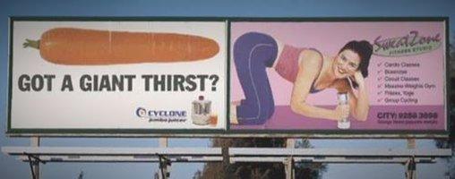 Werbung für Möhren als... was?