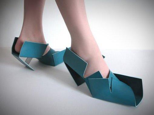 Diese Schuhe erinnern an Möbel