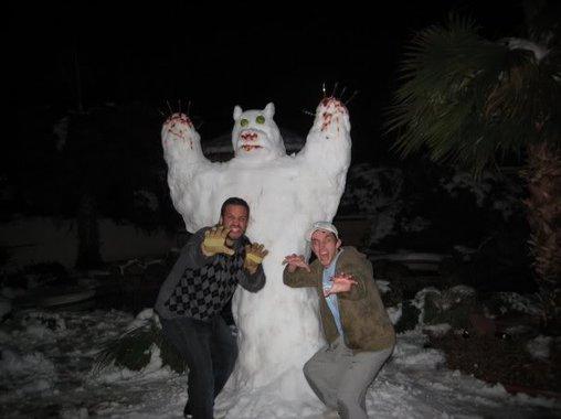 Das Schneemonster greift an