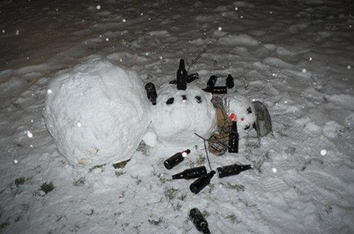 Der trunkene Schneemann