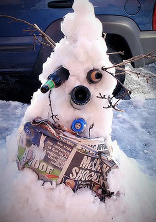 Hässlichster Schneemann ever?
