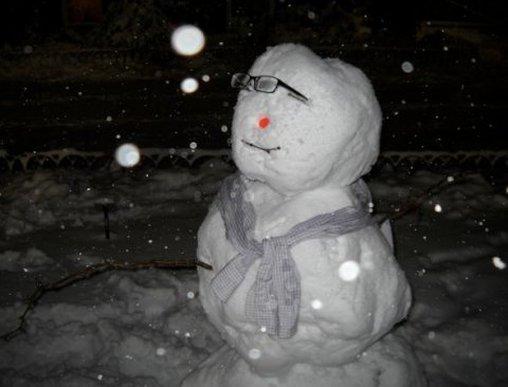 Schneemann mit Stil
