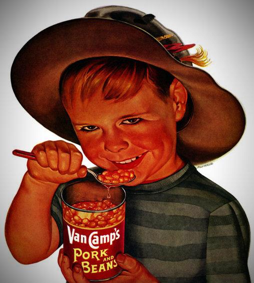 Kind liebt Bohnen