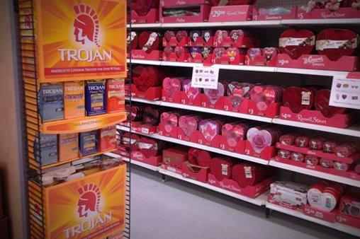 Kondome und Pralinen – ideale Kombination