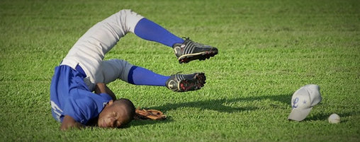 Sturz beim Baseball