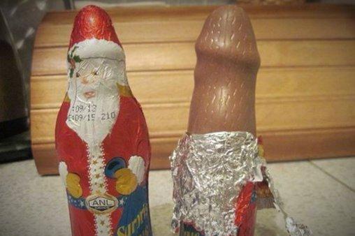 Eindeutige Schokoladenweihnachtsmann-Form