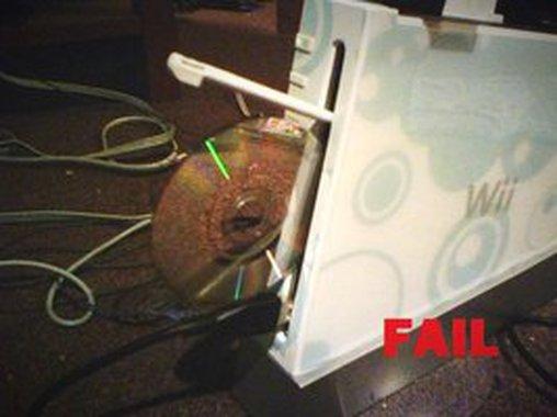 Wii Ausgabe Fail