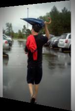 Ein geschlossener Regenschirm kann kaum den richtigen Schutz bieten