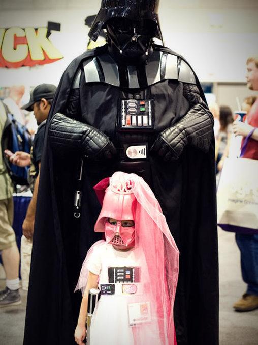 Darth Vader mit der kleinen Prinzessin Leia?