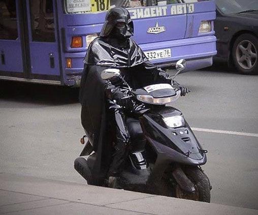 Roller im Darth Vader-Design