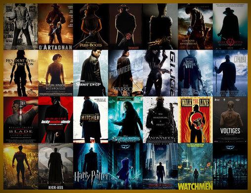 Immer von hinten – der einsame Held auf Filmplakaten