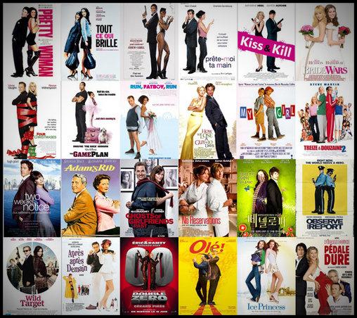 Unterschiedliche Filmpaare – gleiche Plakate