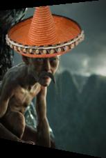 Golum mit Sombrero