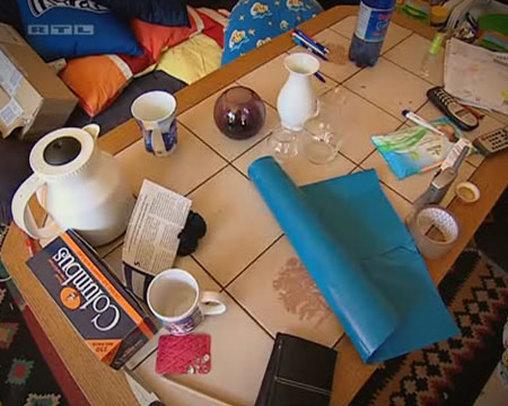 Ein voller Fliesentisch