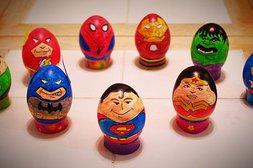 Wenn aus Comic-Helden Ostereier werden