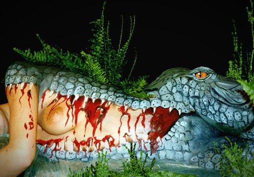 Bodypainting Krokodil