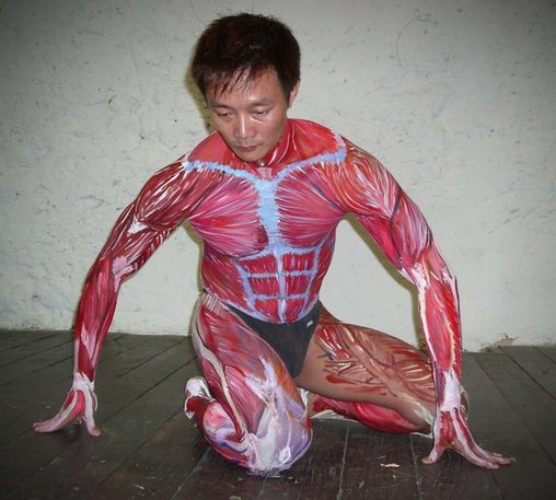 Muskeln als Bodypainting