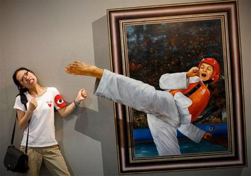 Dieser Karatekick ist einfach umwerfend