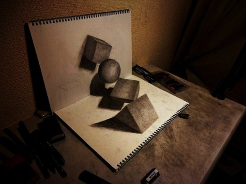 Was ein Bleistift und zwei Malblöcke ausmachen können