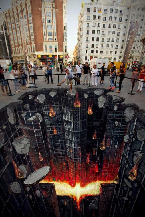 Wenn das mal keine coole Werbung ist!? Gotham City in 3D, zum Anfassen.