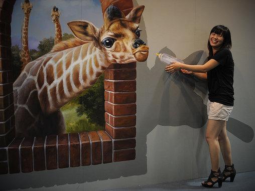 Wenn Giraffen aus dem Rahmen fallen