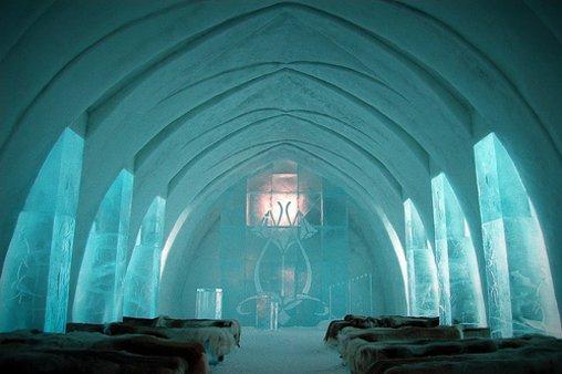Eisig kalt im Eishotel