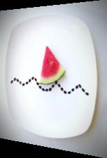 Kunst mit einer Wassermelone