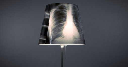 Lampe mit Röntgenbild