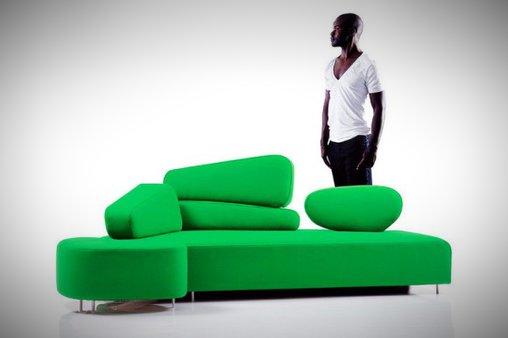 Sofa mit Lücken