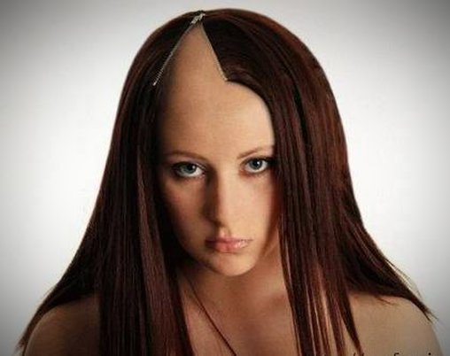 Haare mit Reißverschluss