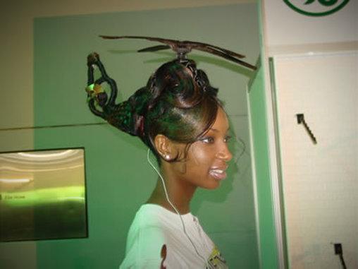 Helikopter auf dem Kopf