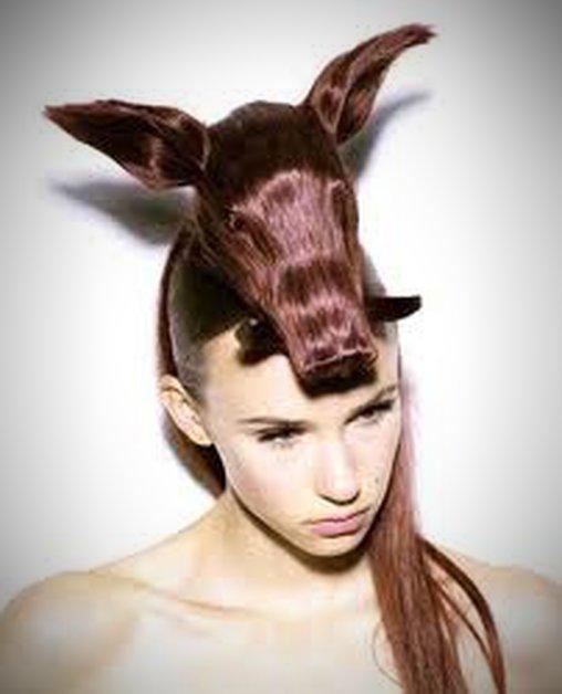 Wildschwein aus Haaren
