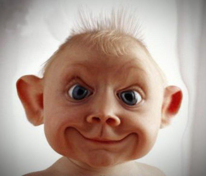 Witzige baby frisuren