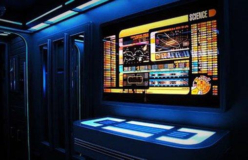 Eine Station im Star Trek-Apartment