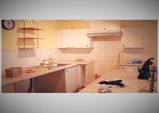 So sah das Star Trek-Apartment vorher aus - noch mehr von einer langweiligen Küche.