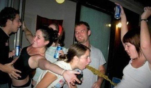 Auch diese Party ist zum Kotzen...